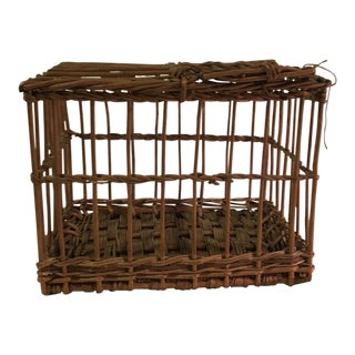 Vintage French Wicker Dove Cote For Sale