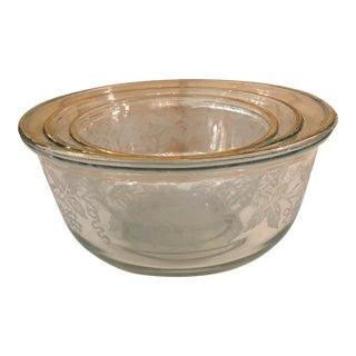 Mid-Century Modern Sugar Grapes Mixing Bowl - Set of 3