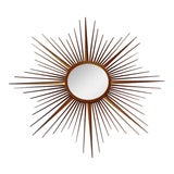 Image of Vintage Chaty Vallauris French Sunburst Mirror For Sale