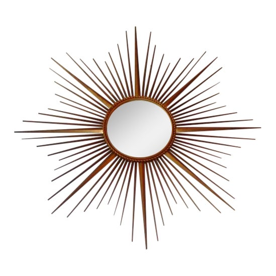 Vintage Chaty Vallauris French Sunburst Mirror For Sale