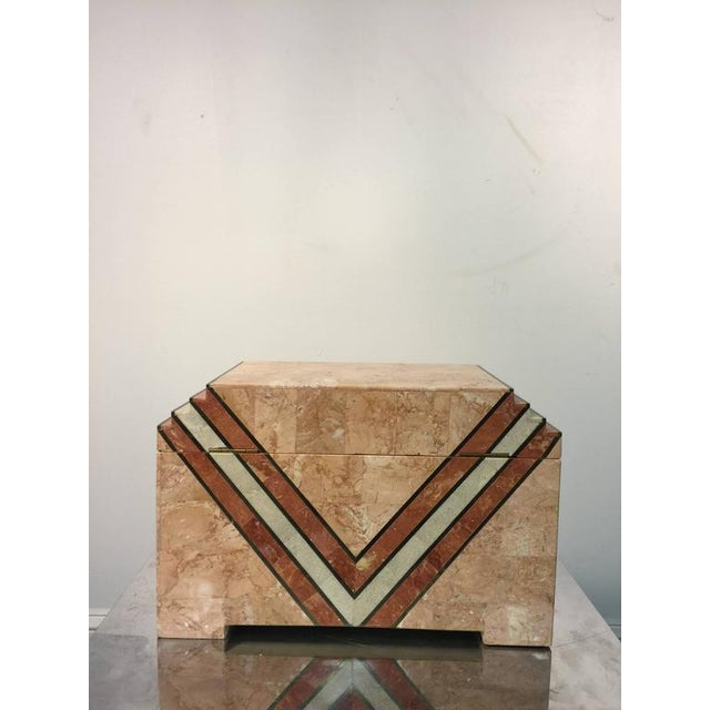 Art Deco ART DECO INSPIRED BOX IN TESSELLATED MARBLE BY MAITLAND-SMITH For Sale - Image 3 of 5