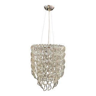 Hand Blown Linked Glass Chandelier For Sale