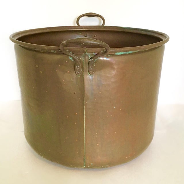 Vintage Rustic Copper Pot - Image 3 of 7