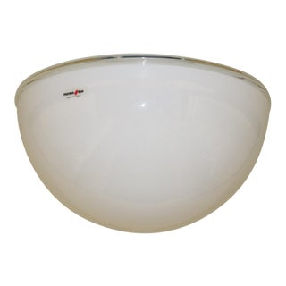 1980s Modern Murano Due Ceiling Lamp White Glass For Sale