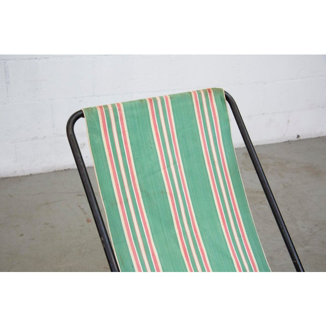 Vintage Pilastro Style Beach Sling Chair - Image 8 of 10