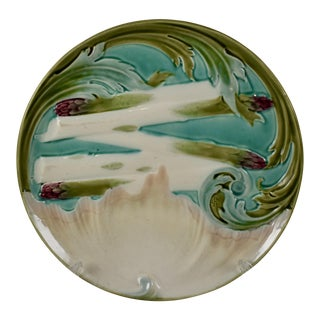 Luneville French Faïence Majolica Asparagus Plate For Sale