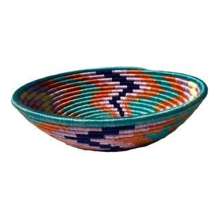 African Basket / Rwanda Baskets/ Woven Basket/ Sweet Grass and Sisal/ Boho| Wall Hanging Basket| Fruit Basket For Sale