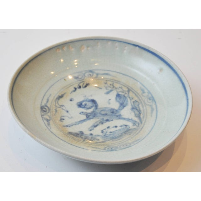 Mid 19th Century 19th Century Collection of Blue and Bone Colored Chinese Porcelain For Sale - Image 5 of 9
