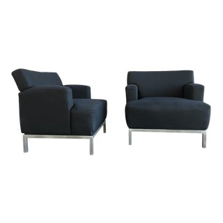 Krug Furniture Modern Carlyle Lounge Chairs - a Pair