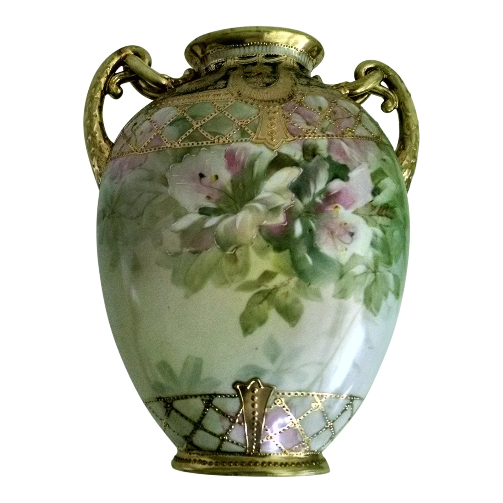 Antique Nippon Morimura Hand Painted Vase | Chairish