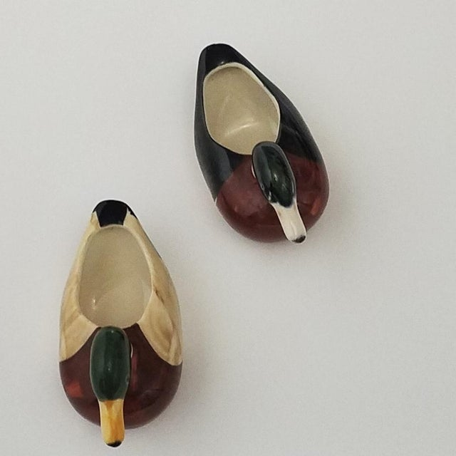 Vintage Ceramic Duck Vessels - A Pair For Sale - Image 5 of 9