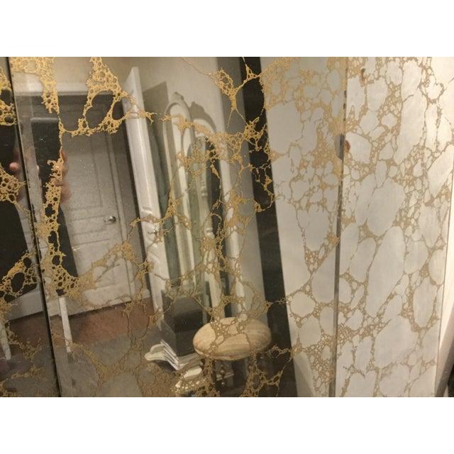 Vintage Gold Veined Mirror Panels Set Of 4 Chairish