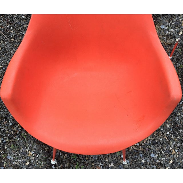 Vintage Orange Chairs - Set of 4 - Image 5 of 7
