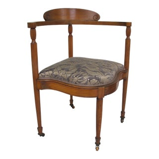 Late 19th Century Fortuny Upholstered Biedermeier Accent Chair For Sale