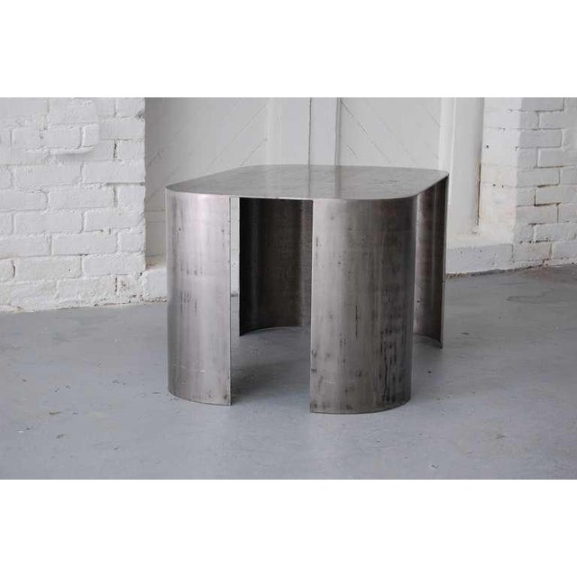 "Vintage Mid Century Luten Clarey Stern Custom-Made ""Andrew"" Steel Low Table For Sale - Image 10 of 10"