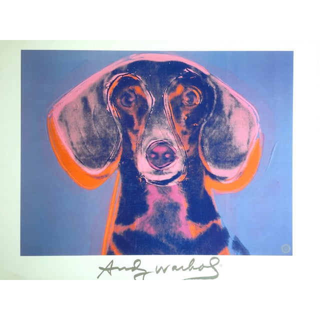 "Andy Warhol Andy Warhol Foundation Vintage 1998 Rare Lithograph Print Framed Poster ""Portrait of Maurice"" 1976 For Sale - Image 4 of 13"