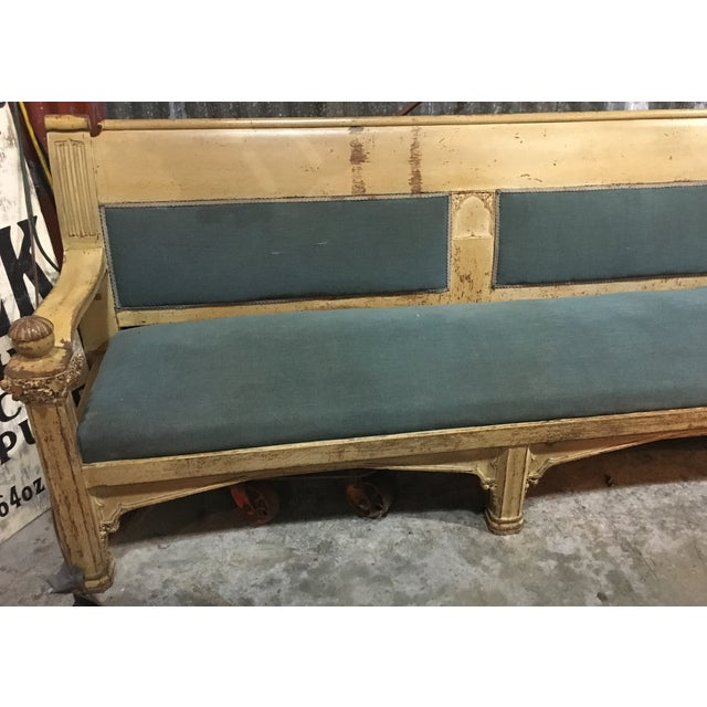 Very Rare and unusual Church Bench from the center of michigan (possible House of David) that seats up to 10 people....
