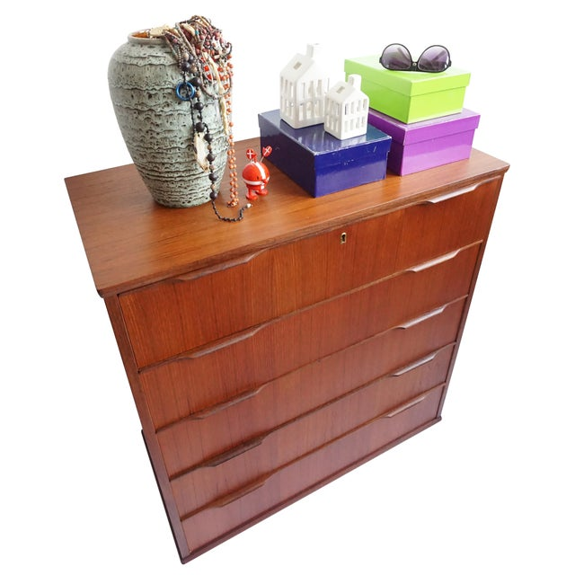 """Svend"" Five-Drawer Teak Dresser - Image 4 of 6"