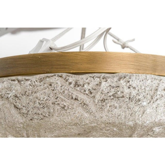 1960s Flushmount Chandelier by Hillebrand For Sale - Image 5 of 10