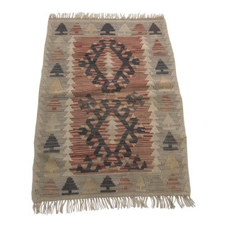 Turkish Handmade Tribal Floor Kilim For Sale