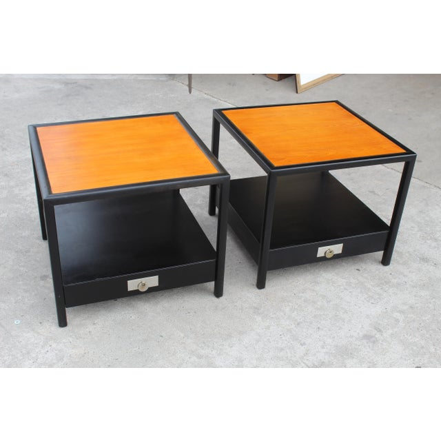 Mid-Century Baker Walnut End Tables - a Pair For Sale - Image 13 of 13
