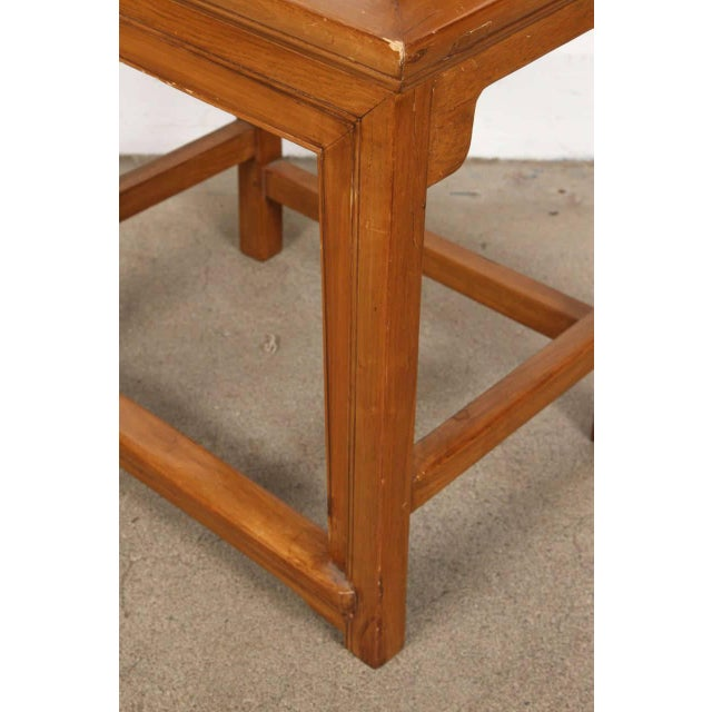 Chinese Ming Style High Back Elm Chairs - a Pair For Sale In Los Angeles - Image 6 of 8