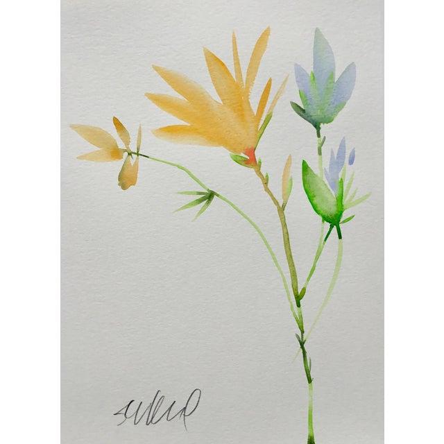 "Realism Botanical 45, Original Watercolor, 9x12"" For Sale - Image 3 of 3"