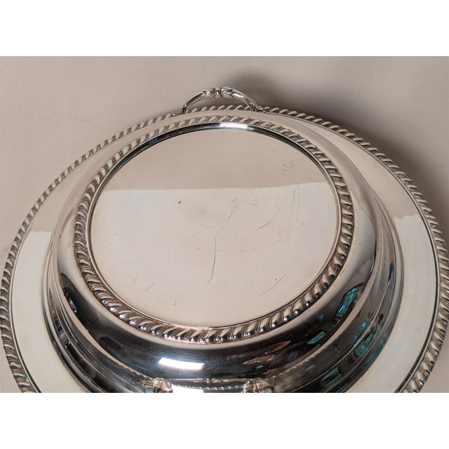 Epc 1940s Silver Plate Serving Dish For Sale - Image 9 of 13
