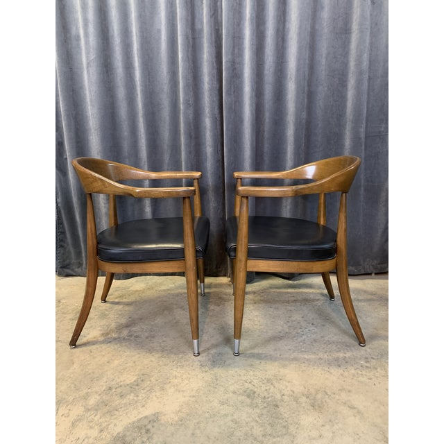 Mid-Century Modern Mid-Century Modern Boling Chair Co. Sculptural Arm Chairs - a Pair For Sale - Image 3 of 12