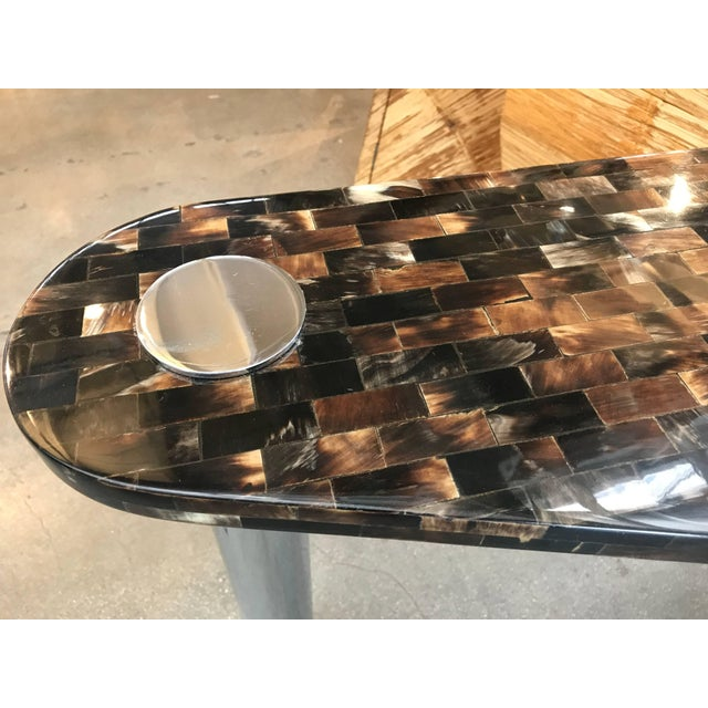 Tessellated Horn Console Table For Sale In Palm Springs - Image 6 of 10