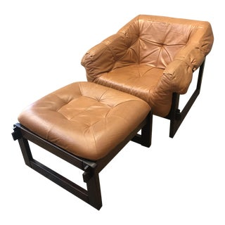 Perceval Lafer Lounge Chair & Ottoman - a Pair