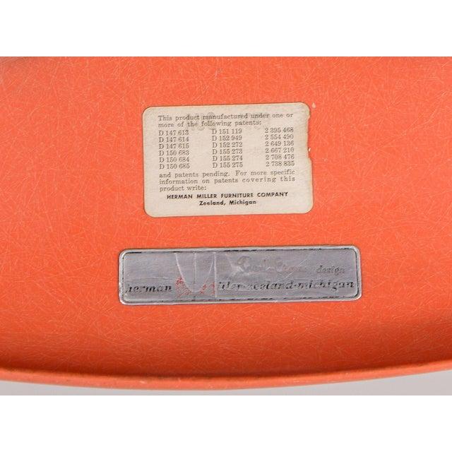 Eames Orange Armchair on Rocker Base For Sale - Image 10 of 11