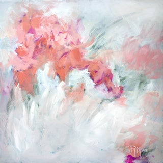 """""""Energized"""" Contemporary Original Abstract Floral Acrylic Painting For Sale"""
