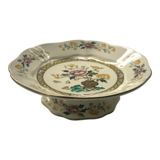 "Mason's Ironstone English ""Chinese Peony"" Floral Chinoiserie Dessert Tazza For Sale"