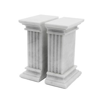 White Marble Bookends - a Pair Preview
