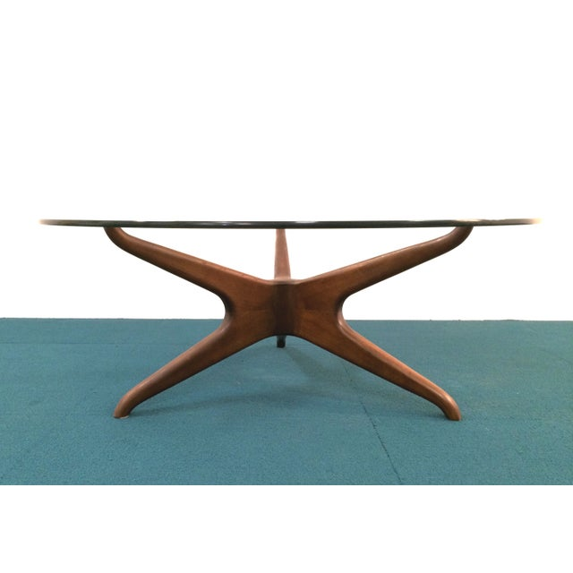 Vladimir Kagan Biomorphic Walnut Coffee Table - Image 2 of 8