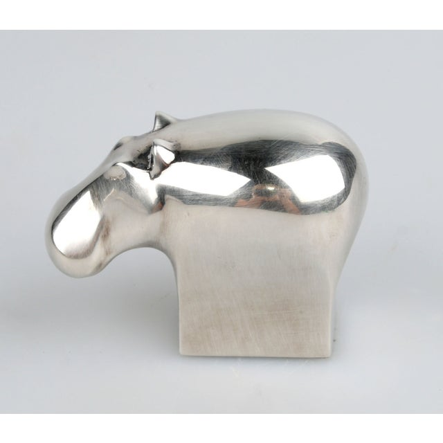 Dansk Silver-Plate Hippo Paperweight - Image 2 of 8