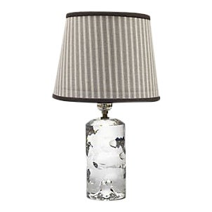 Baccarat Crystal Lamp W/ Custom Tailored Shade For Sale