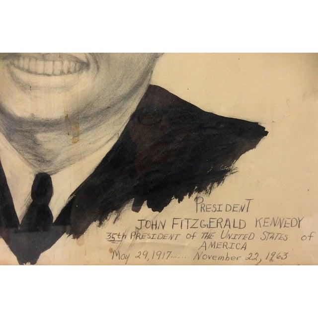 Illustration JFK Folk Art Portrait For Sale - Image 3 of 3