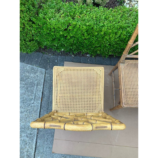 Mid-20th Century Faux Bamboo Dining Chairs- Set of 10 For Sale - Image 12 of 13