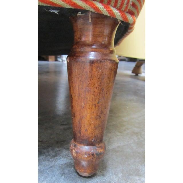 A. Rudin Velvet Stripe Lounge Chair - Image 8 of 9