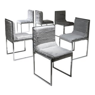 "Unique Set of Six ""Wright/Wright"" Chairs by Nanda Vigo for Driade"