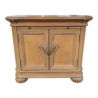 Bernhardt Vintage White Oak Nightstand For Sale