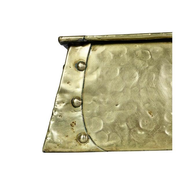 Art Nouveau Brass Fire Fender For Sale - Image 4 of 7
