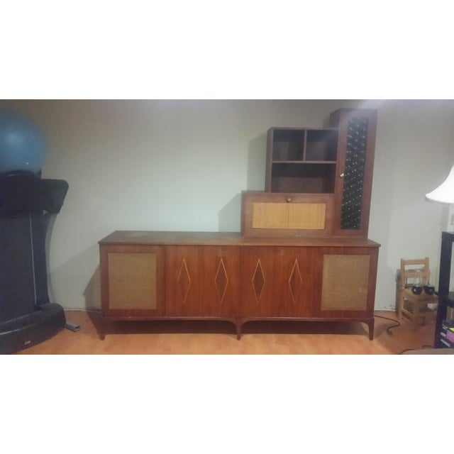 Mid-Century Modern Custom Made Credenza With Hutch - Image 6 of 6