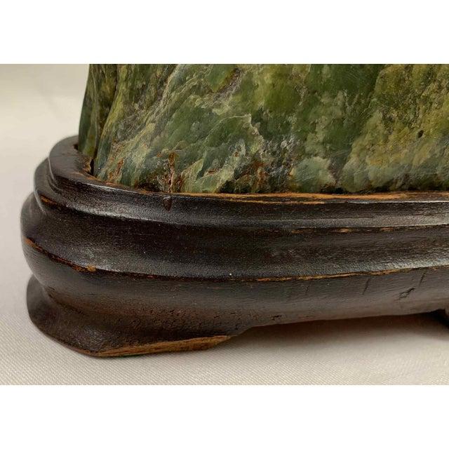 Jade Mountain Okimono Natural Jade Specimens - a Pair For Sale - Image 12 of 13