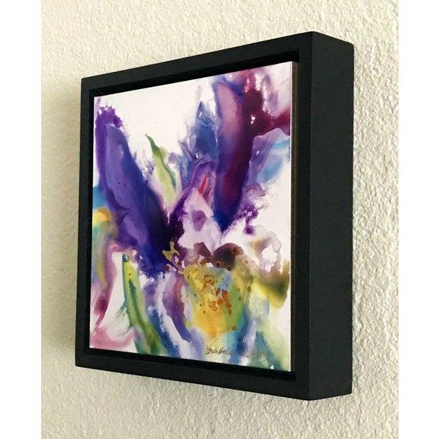 Contemporary Original Purple Iris Painting For Sale - Image 3 of 5