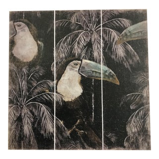 French Triptych Toucan Panel For Sale