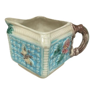 Antique Majolica Butterfly Creamer For Sale