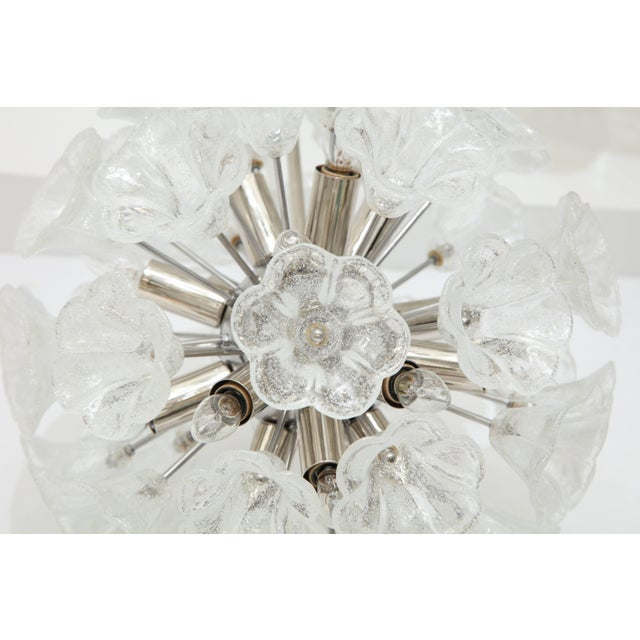 1960s Italian Floral Glass Sputnik Chandelier For Sale - Image 5 of 11